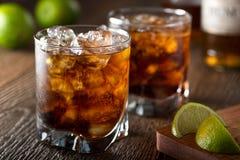 Rum en kola Royalty-vrije Stock Afbeeldingen