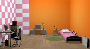 rum för flicka 3d Arkivfoto