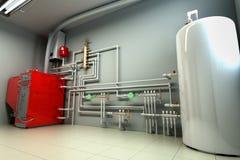 Rum för kokkärlet för varmvattenkokkärlet med ett uppvärmningsystem 3d framför vektor illustrationer