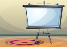 Rum för kontor för tecknad filmvektorillustration inre med avskilda lager royaltyfri illustrationer