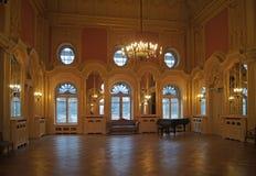 Rum för Lodz Polen Israel Poznanski slottboll arkivbilder
