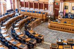 Rum för senat för Des Moines Iowa statKapitolium Fotografering för Bildbyråer