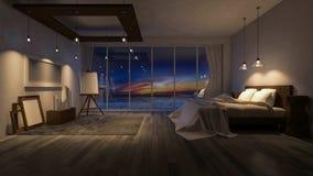 rum för sjösida 3ds Royaltyfri Fotografi