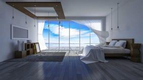 rum för sjösida 3ds Arkivfoto