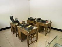 Rum för utrustning för stämmaregistreringsapparat i Jing-Mei Human Rights Memorial arkivbilder