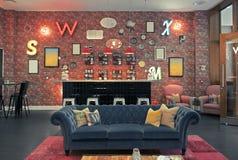 Rum för lobbyaria i regeringsställning i engelsk stil Royaltyfri Foto