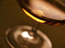 Rum glass Stock Photography