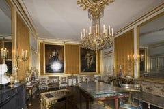 Rum inom slotten av Fontainebleau, Frankrike Arkivbild