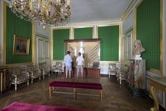 Rum inom slotten av Fontainebleau, Frankrike Fotografering för Bildbyråer
