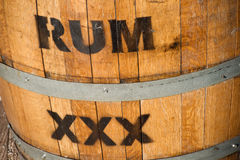 Rum Keg. Cloe-sup of a wooden barrel for rum royalty free stock photography