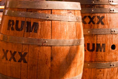 Rum Kegs Stock Photos