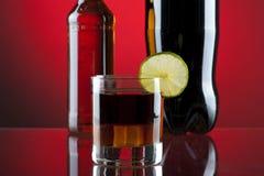 Rum-kola cocktail Royalty-vrije Stock Fotografie