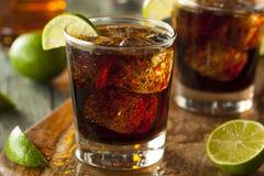 Rum Kuba Libre i kola obraz stock