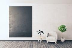 Rum med den tomma svart tavlan stock illustrationer