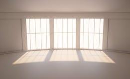 Rum med ett stort fönster Royaltyfri Fotografi