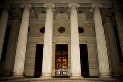 Rum?nsk Atheneum, en viktig konserthall och en gr?nsm?rke i Bucharest, Rum?nien 20 05 2019 arkivbilder