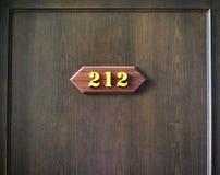 Rum nummer 212 Arkivbild