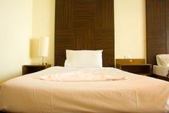 Rum och säng. Arkivfoto