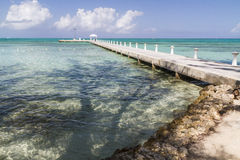 Rum Point Beach & Dock Royalty Free Stock Images