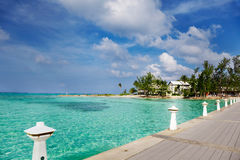 Rum Point, Grand Cayman. Dock at Rum Point, Grand Cayman royalty free stock photos