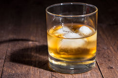 Rum on the rocks Royalty Free Stock Photo