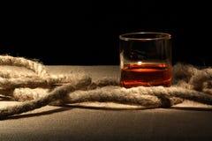 Rum And Rope Stock Photo