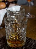 Rum in vetro Fotografie Stock