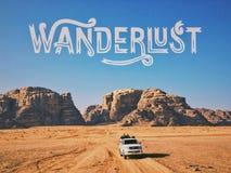 rum wadi jordan Fotografia Stock