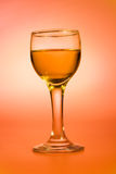 Rum in a wine glass Royalty Free Stock Image