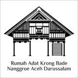 Rumah adat krong bade aceh royalty free illustration