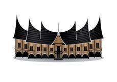 Rumah gadang ή gadang σπίτι Στοκ Εικόνες