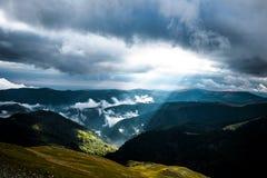 Rumania, camino de Transalpina Fotos de archivo libres de regalías