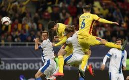 Rumania contra Finlandia Fotos de archivo libres de regalías