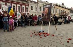 Rumania en protesta continua Foto de archivo libre de regalías