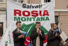 Rumania en protesta continua Imagen de archivo libre de regalías