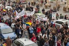 Rumania en protesta continua Fotos de archivo libres de regalías