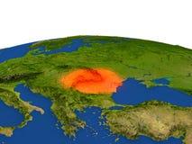 Rumania en rojo de la órbita libre illustration