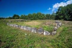 Rumania - fortaleza de Dacian de Costesti-Blidaru Imagen de archivo