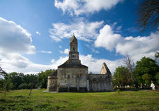 Rumania - iglesia de Densus Foto de archivo libre de regalías