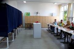 Rumania - presidente Referendum Fotos de archivo libres de regalías
