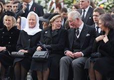 Rumania - rey Mchael I - Funerral real fotografía de archivo