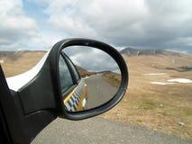Rumania a través del espejo, paisaje Foto de archivo