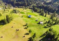 Rumania, vista aérea del paisaje de Moldavia foto de archivo libre de regalías