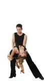 Rumba. Dancing young men and girls pose Royalty Free Stock Image