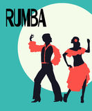 Rumba dancers card Stock Images