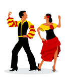 Rumba dancers. On white background Stock Photography