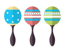 Rumba shakers, maracas, rattle icon. Musical instruments.  on white Stock Image