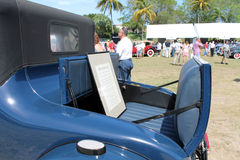 Rumble seat on old antique car Stock Photos