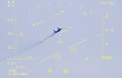 Rumbo de colisión, opinión ascendente de la visualización de la pista Imagen de archivo
