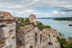 Rumeli Castle in Istanbul, Turkey Stock Images